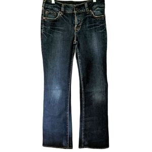 SILVER Suki Distressed Jeans 31X35 Bootcut